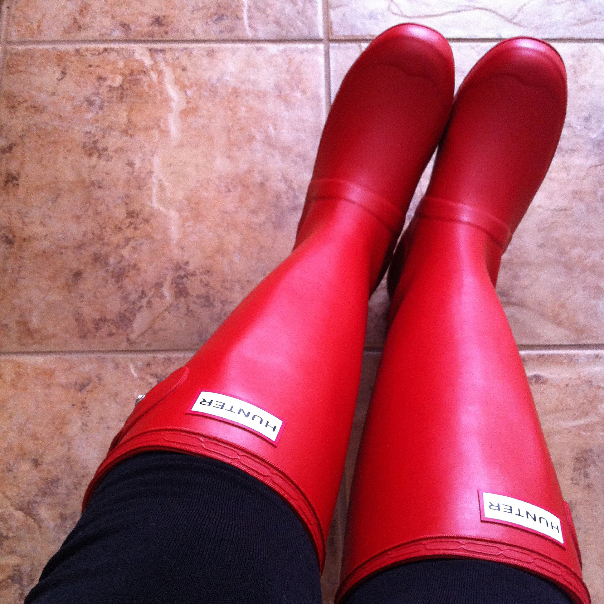 Military Boots Rain Boots in Military Red